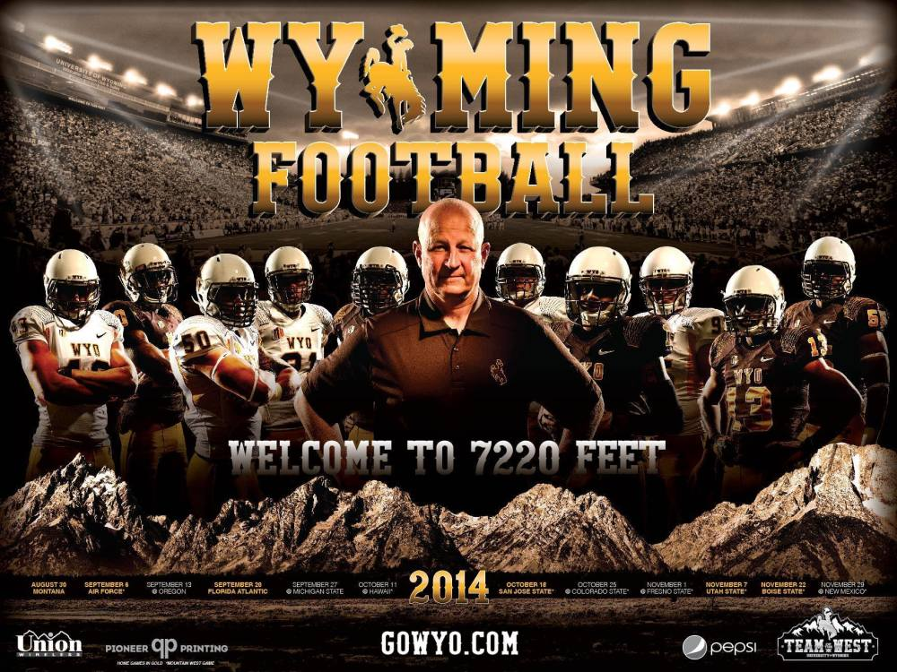 Wyoming 2014 Football Schedule Poster
