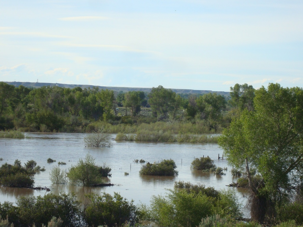 File photo of flooding along the Big Wind River in 2010.  The potential for a repeat of that year's flooding in the Wind River Basin is low, according to NOAA Wyoming Hydrologist Jim Fahey in Riverton.
