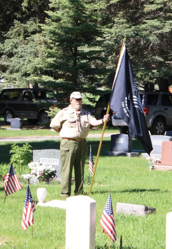 The POW-MIA Flag was represented at the event.