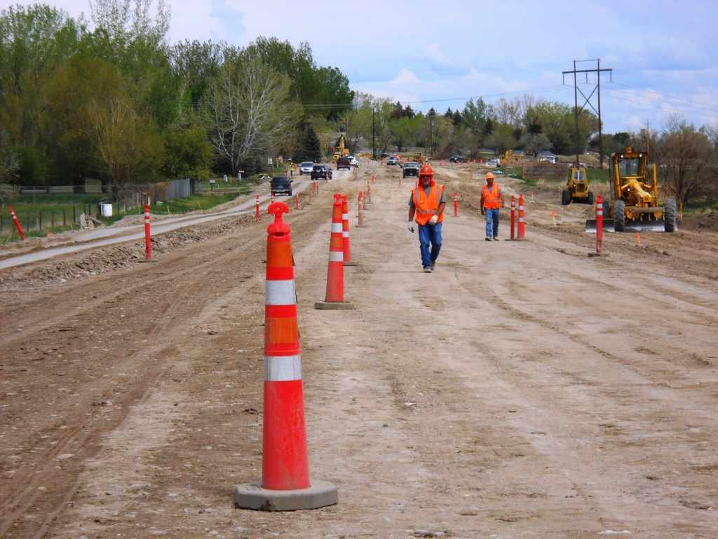 The contractor will close operations for the Memorial Day Holiday on the Riverview Road Projects. (WYDOT)