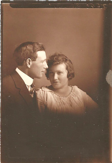 Mary and John Hornecker's Wedding photo (from the collection of Jean M. Haugen)