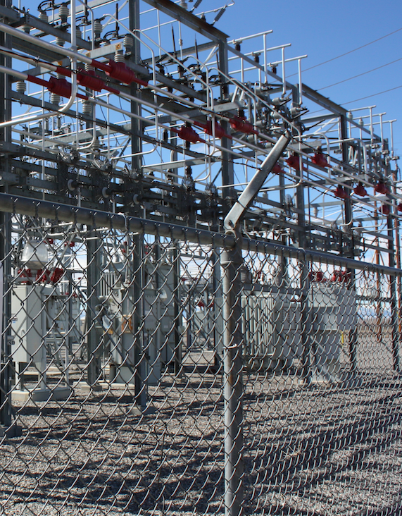 A Rocky Mountain Power Substation in Riverton.
