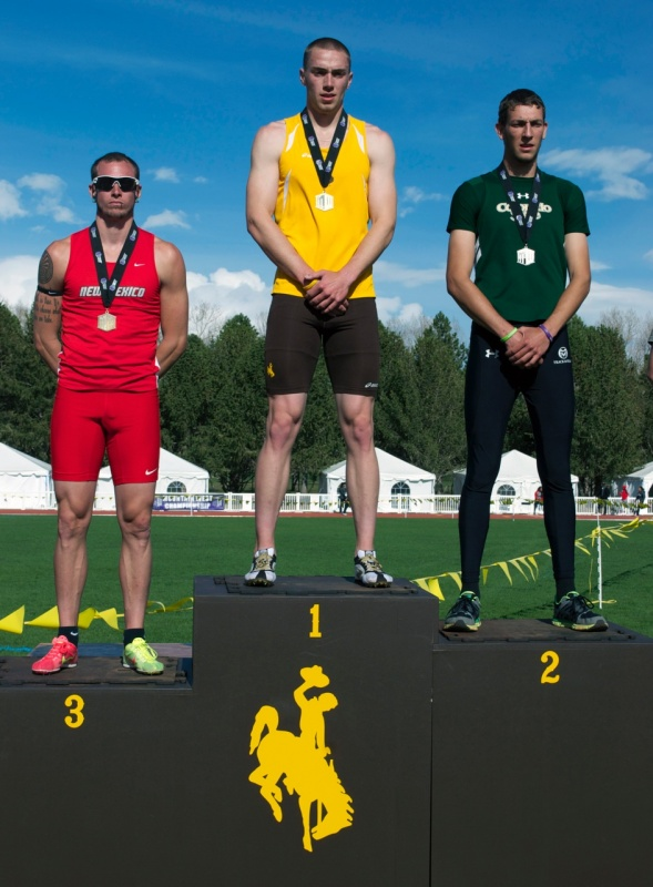 MW Decathlon Champion Kyle Sullivan. (Wyoming Athletics Media Relations)