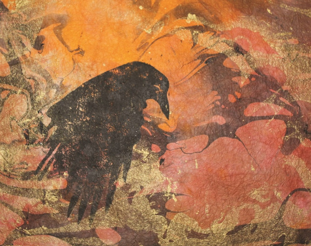 'Weeping Raven' by Julian Kwasniewski will be shown at the Red Desert Audubon Show at the Lander Art Center.