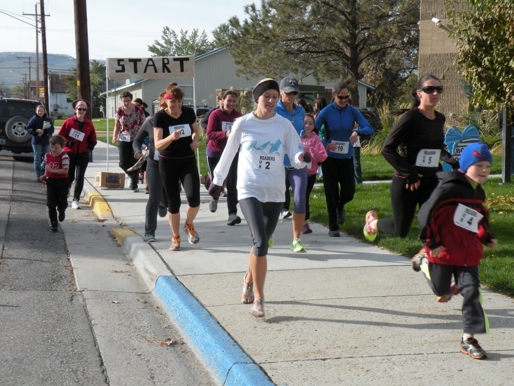 File photo of a previous 5k in Lander.