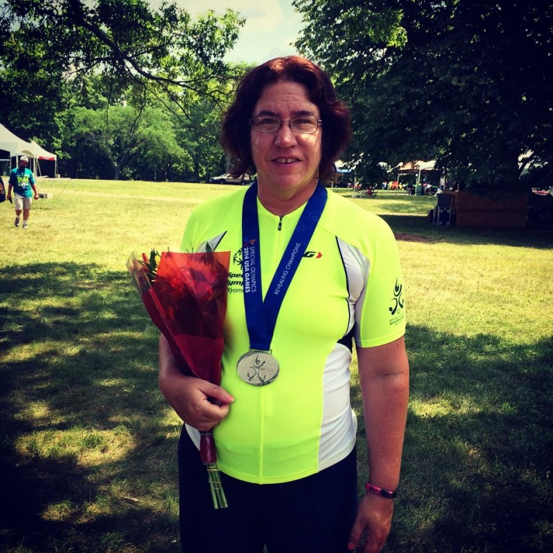 5k Road Race Silver Medalist Susan Fessler. Photo provided by Lander Masters Special Olympics.
