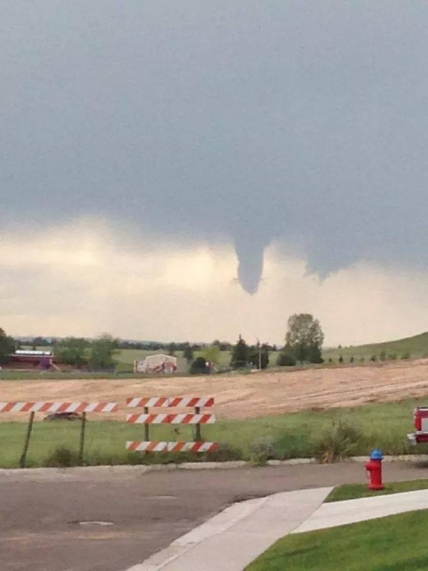Ethan FightingBear captured this image of a funnel cloud just outside of Cheyenne on Wednesday.