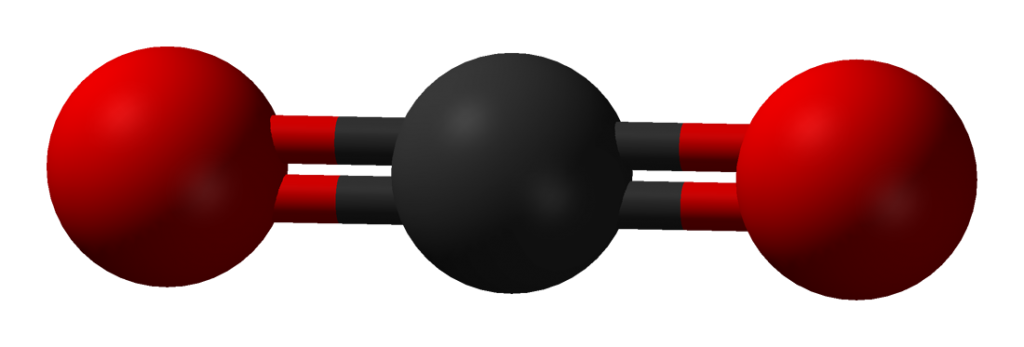 A graphic of a CO2 molecule by Benjah-bmm27 used under the Creative Commons.