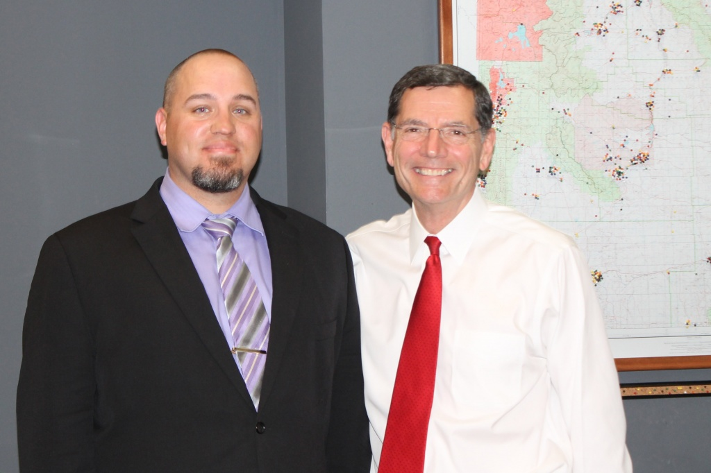 Chad Rose had his photo taken with Sen. John Barrasso at the Senator's Washington office.