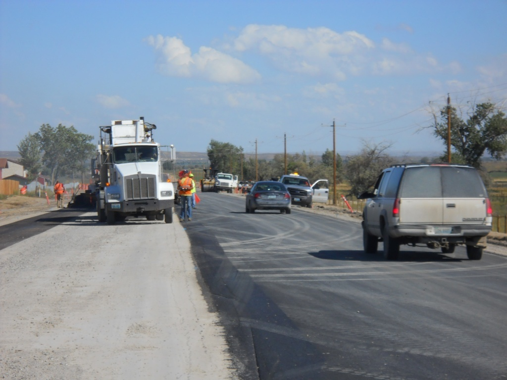 A major project to pave the 17-Mile Road on the Wind River Reservation was completed in 2013. WYDOT will now work on a stretch of highway 15 miles south of Lander on U.S. 287  (WYDOT)