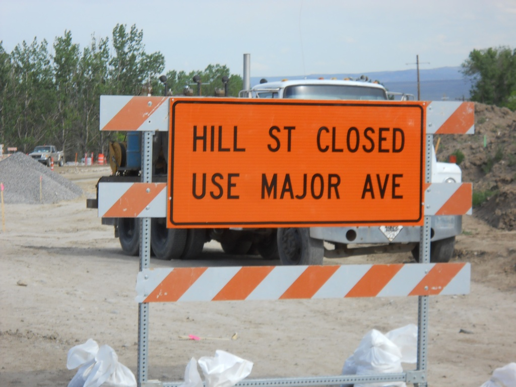 The closure of Hill Street will be listed on Saturday at noon. (WYDOT)
