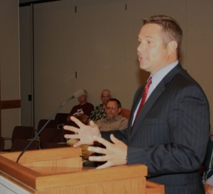 Butterfield addressed the council Tuesday night.