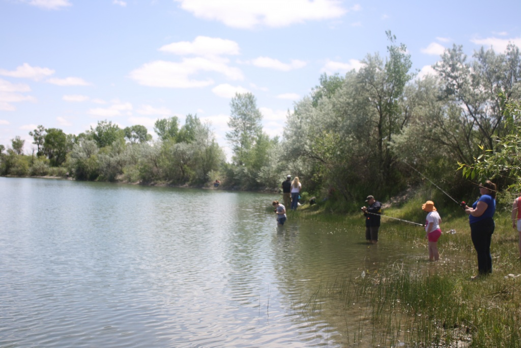 Fishing at the Rendezvous Ponds.