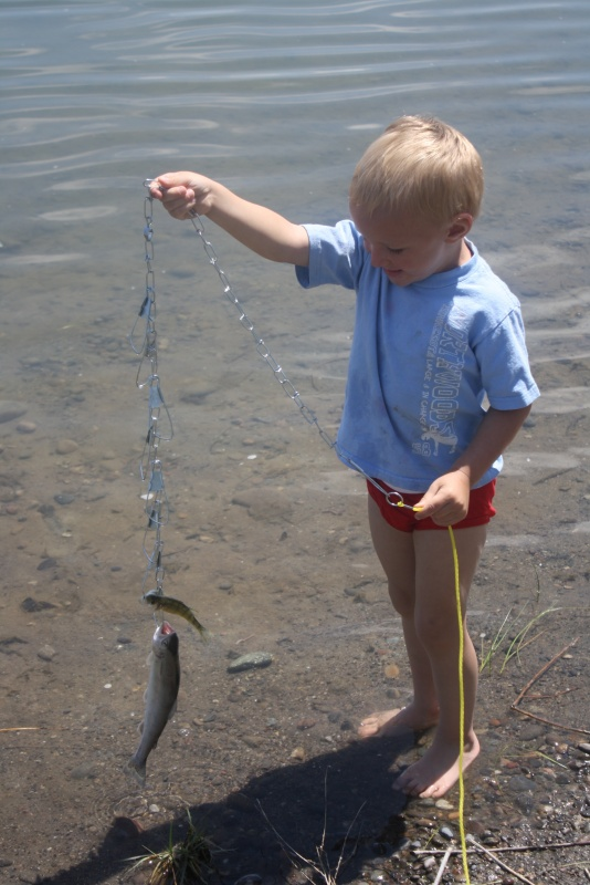 Craven Tynesky, 3, caught a nice 10 1/4 inch Rainbow Trout. (Ernie Over photo)
