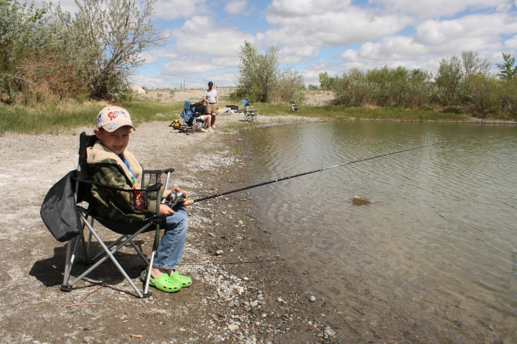 Patrick Dornblaser took part in last year's free fishing day event in Riverton. File photo.
