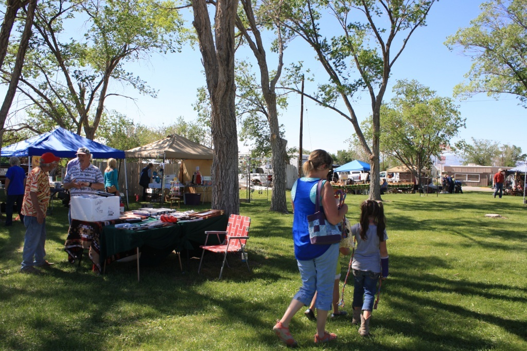 Vendors at last year's Shoshoni Days at East Park. Read more about this weekend's event below.