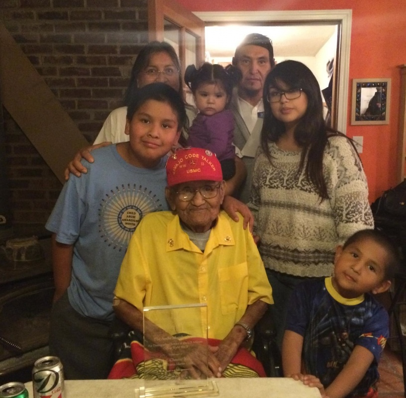 Jolene Catron's Uncle, Chester Nez, died June 4th. Nez was the last remaining of the original 29 Code Talkers, who helped the United States defeat Japan in WWII.