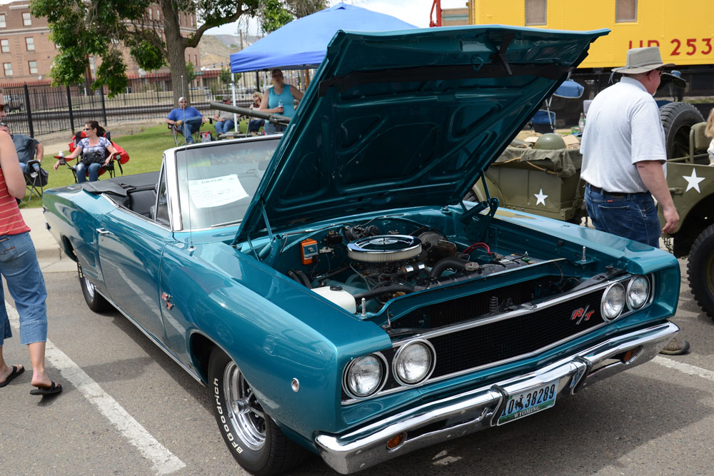 John Hobbs of Riverton entered this 1968 Dodge Coronet convertible in the Rock Springs Rods and Rails show Saturday. (Carlo Harryman photo)