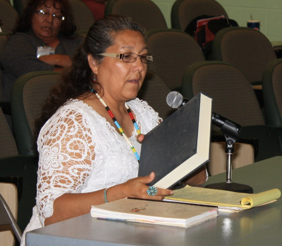 Eastern Shoshone Tribal Liaison Sara Robinson said Wyoming State Government officials and workers need to be educated about the Wind River Indian Reservation to end a cycle of ignorance on Tribal culture. (Ernie Over photo)