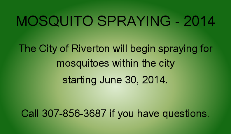 Mosquito spraying notice
