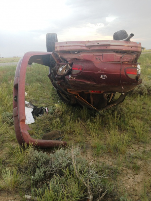 Baxter's Crashed vehicle (WYDOT)