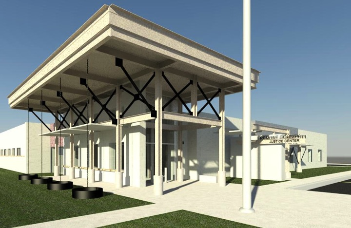 The large awning in this digital image of the building has been scrapped from the project at $100k savings. Image by Reilly Johnson Architecture.
