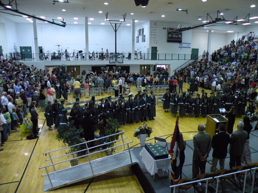 Lander Valley High School's  2014 Graduation Ceremony. File photo.