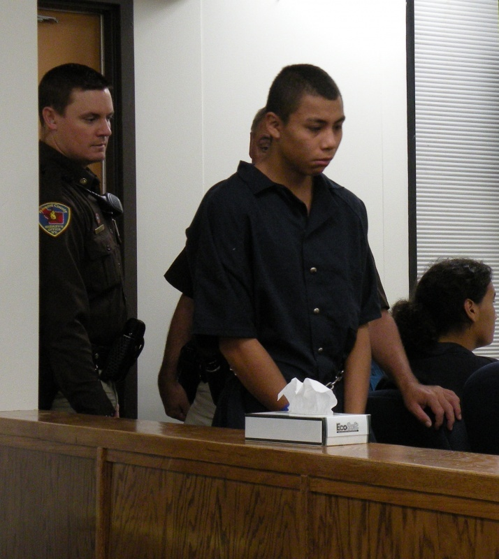 Santana Mendoza in Riverton Circuit Court last September. File photo.