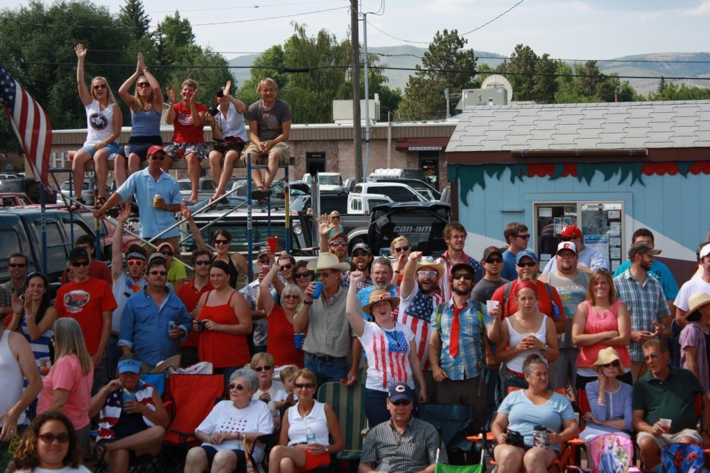 July Fourth celebrators along the Pioneer Days Parade route in 2013.
