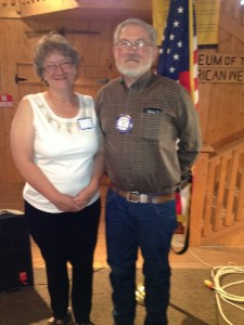 Riverton's Carmen Milbury, left, and Lander's Ken Richardson were honored as their club's respective Rotarians of the Year. (Ernie Over photo)