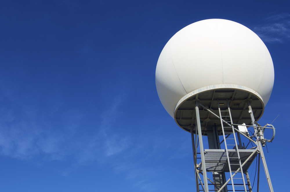 A National Weather Service Doppler Radar Site. Image by pedrosala/ Shutterstock.com