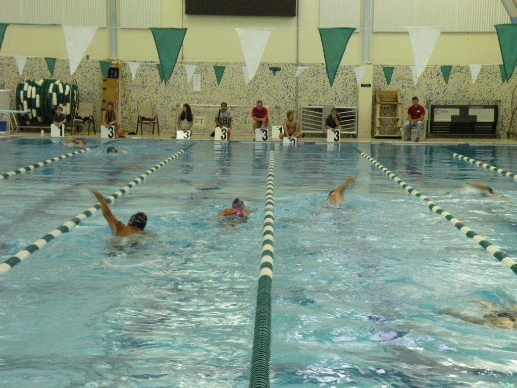 A swimming event at the Lander Swimming Pool. File photo.