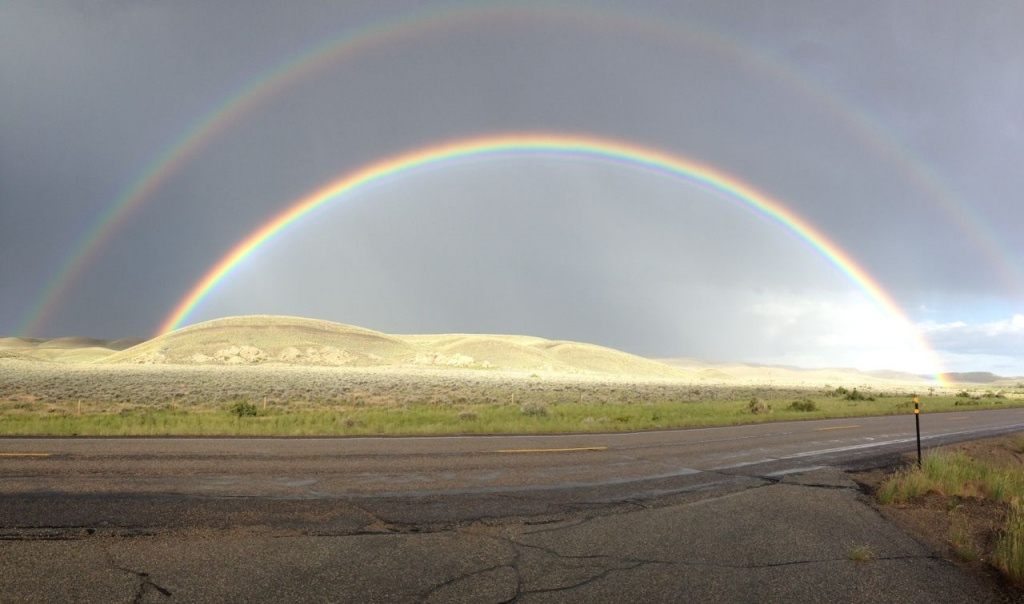 Double rainbow photo by Ally Weller.