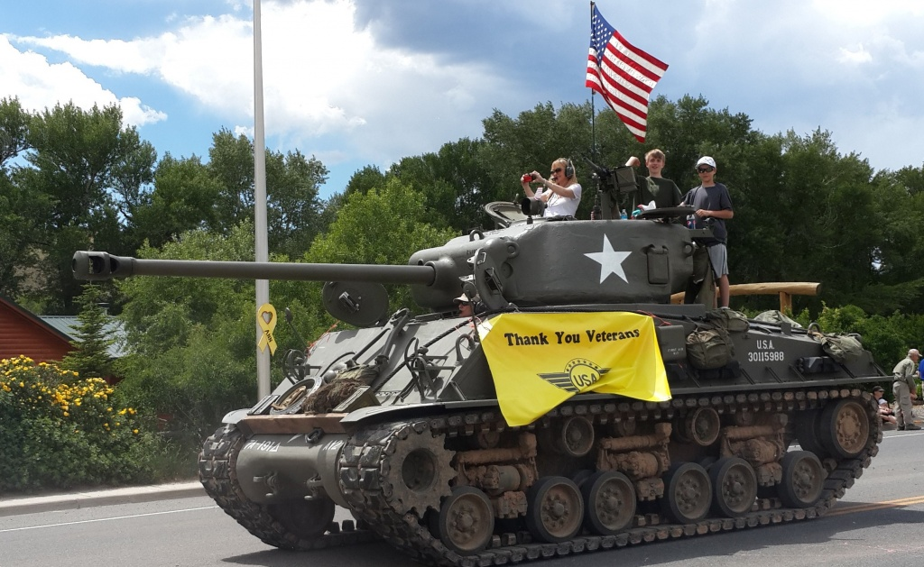 A US Army Tank was in the Dubois 4th of July parade. Who brought it? (Ed McAuslan photo)