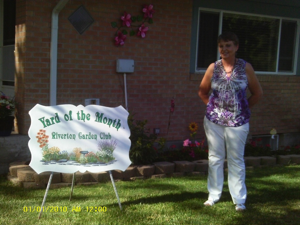 Deanna Reach at 130 East Sunset has the Yard of the Month as chosen by the Riverton Garden Club.