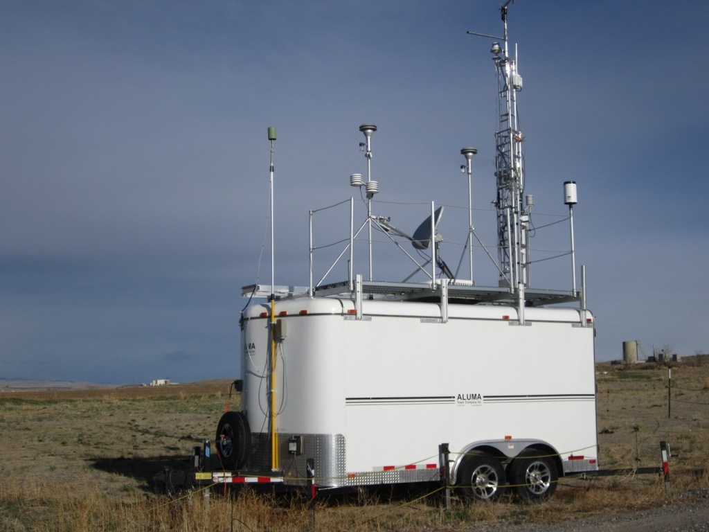 A Wyoming DEQ-Air Quality Division monitoring station. (File photo)