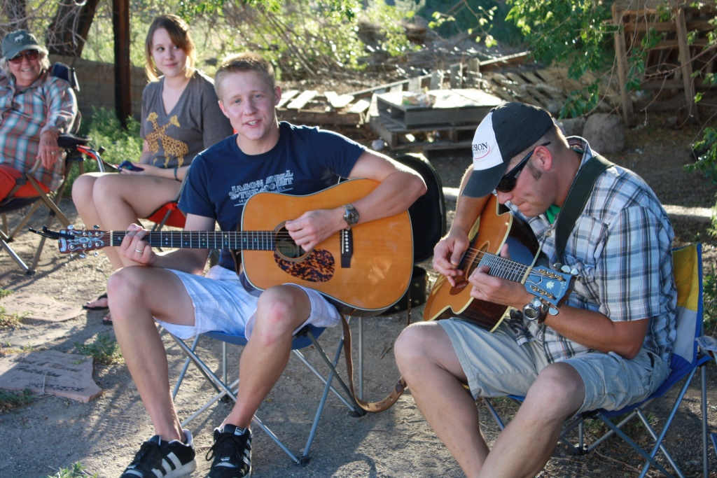Ryan and Eli Horyza found a nice spot in the shade during last year's Music on the Riverwalk to play their tunes. (file photo)