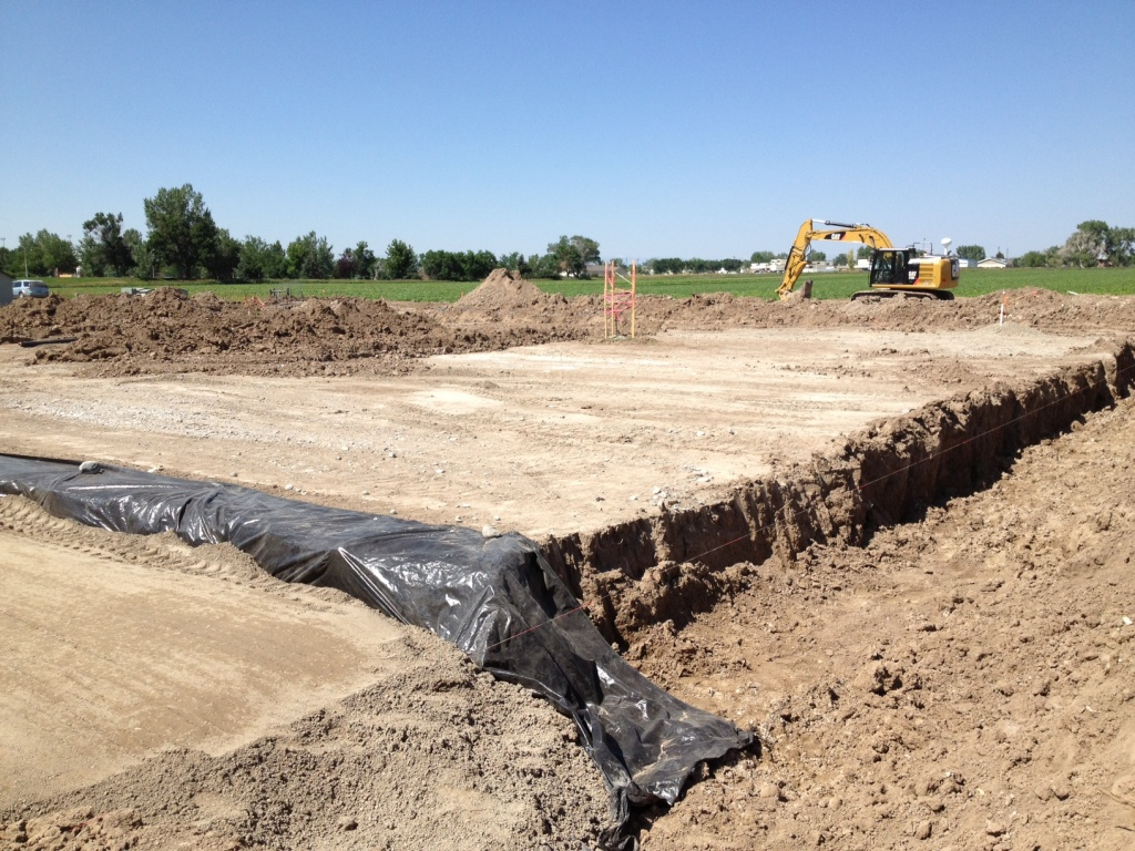 The foundation for the new Riverton Justice Center is being prepared for concrete. (Ernie Over photo)