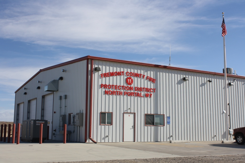 The North Portal (above) and Midvale Fire Halls were constructed of similar designs and are the county's newest fire stations. (Ernie Over photo)
