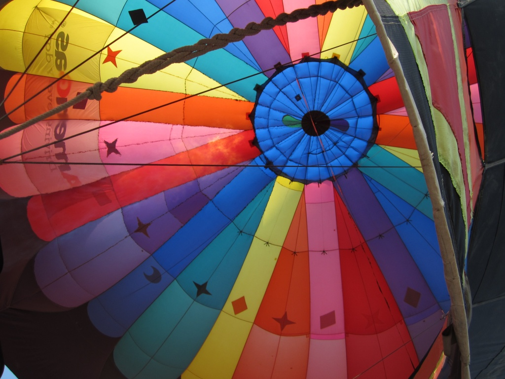 The inside of the Misbehavin' balloon from Springcreek, Nevada. Photo provided by Patrice Chesmore