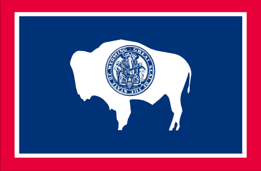 Wyoming State Flag by Globe Turner/Shutterstock.com