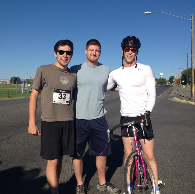 Winning team from Fremont Therapy. From left to right: Tom Davis, Andy Arey and John Kindle.