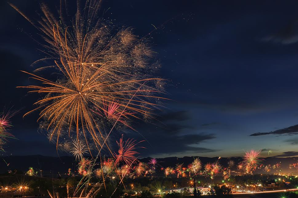 July Fourth Fireworks by Bryce Giesmann.