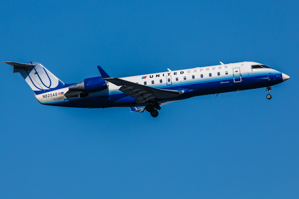 A Canada Air Regional Jet by Chris Parypa Photography/ Shutterstock. com