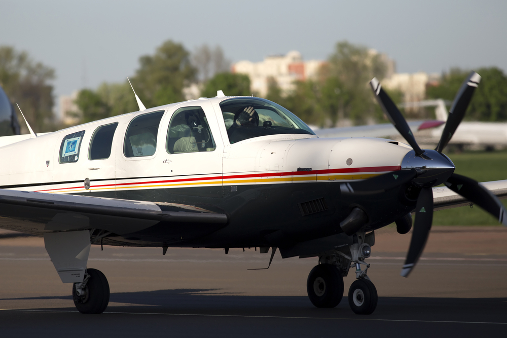 Image of a Beechcraft Bonanza, not the one involved in Thursday's engine failure. Image by Artur Buibarov/Shutterstock.com