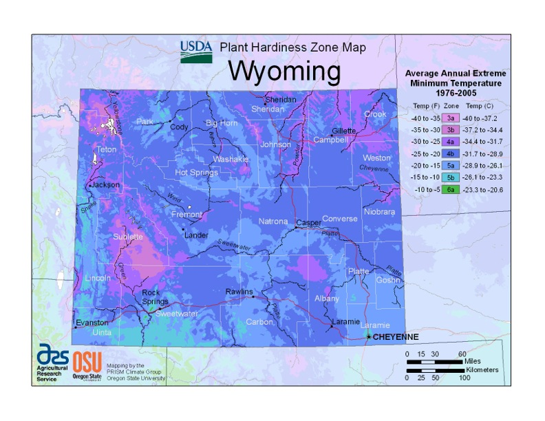 wyoming plant zones