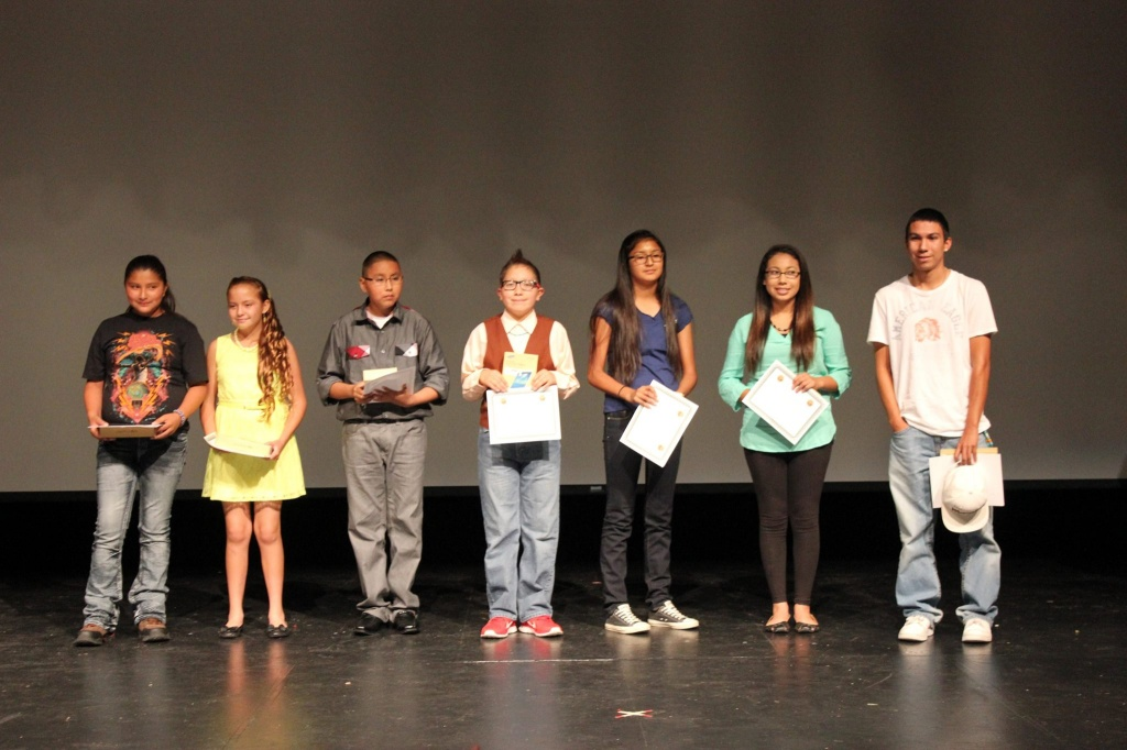 The Native American Students of the Year were recognized at this week's education conference in Riverton. (Photo by Susan Benepe)