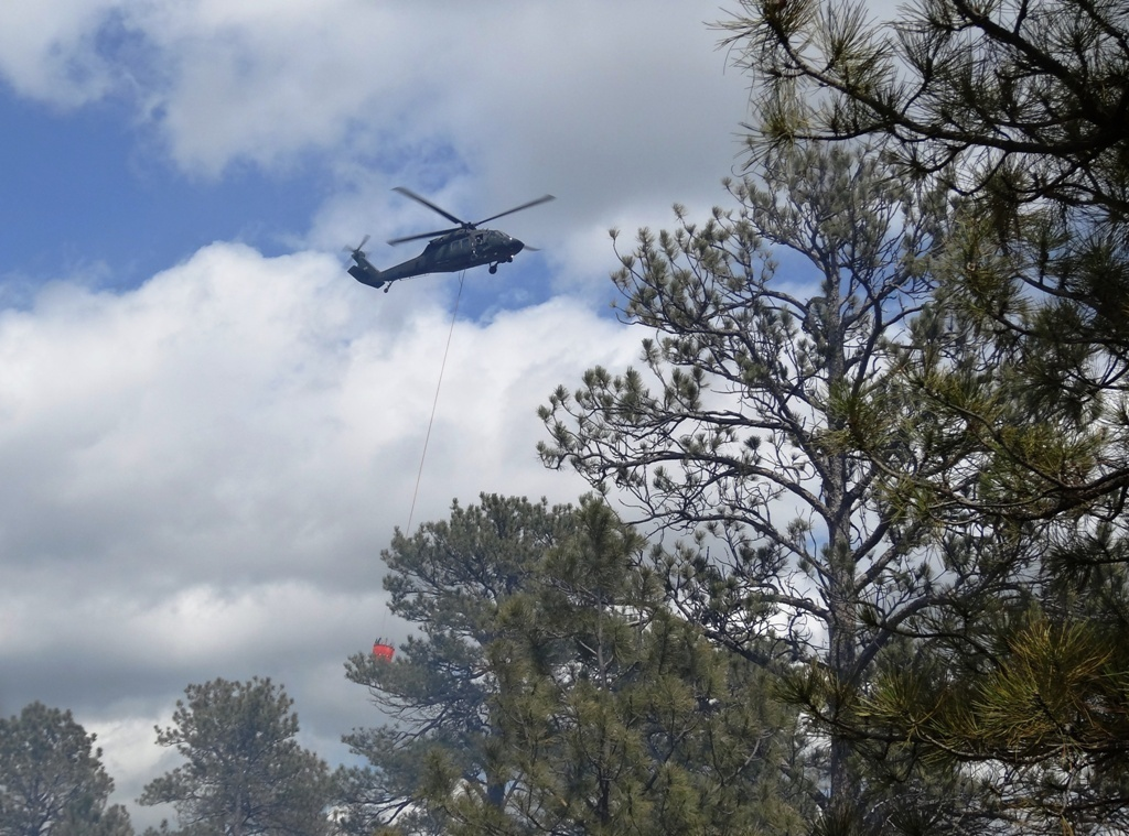 A Wyoming National Guard UH-60 Black Hawk helicopter similar to this one is being sent to Washington. File photo.
