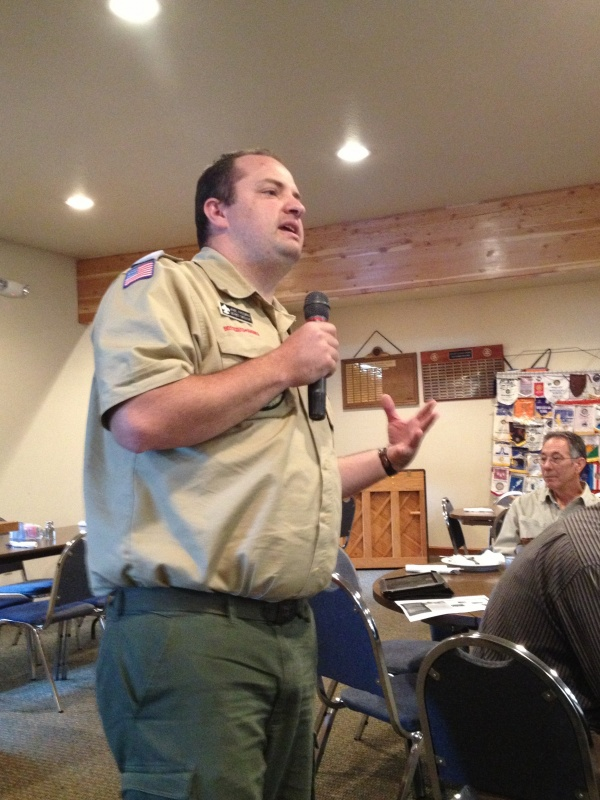 Jamie Freeman is the District Executive for the Boy Scouts of America. (Ernie Over photo)
