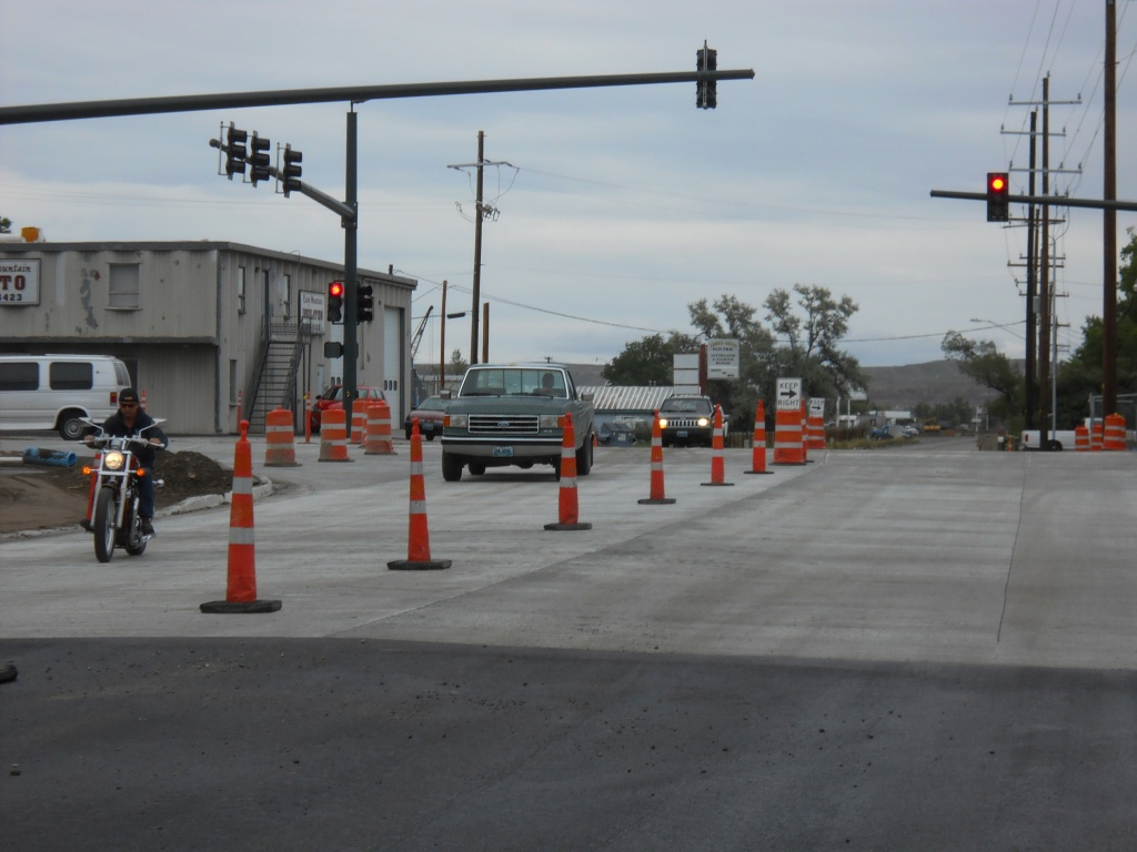 The west half of the East Monroe Street intersection at South Federal reopened to traffic on Wednesday afternoon. (WYDOT)